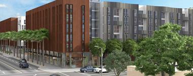 apartments on Brannan in San Francisco. rendering